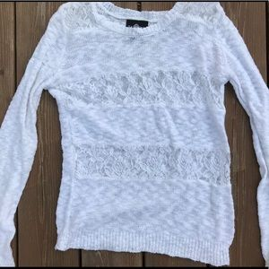Sweaters - 🕊 white lace sweater 🕊